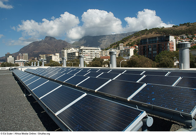 Solar panels in Cape Town